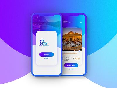 UI Design for Hotel Booking android latest design minimal mobile app best ui ux hotel booking ui kit ios iphonex app design