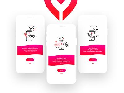 Event Booking App shibupavizha gradient location bookingapp mobile app bestui minimal latest app design  event booking ios android