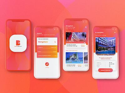 Concept / Theme Design for Hotel booking shibupavizha latest ios12 iphonex bookingapp eventapp illustration splashscreen iosdesign event booking app uiux ui design app design themedesign