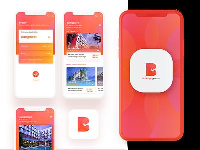 UI Design - Hotel Booking App splashscreen interaction hotelbooking vibrantdesign minimal appdesign userinterface uidesign