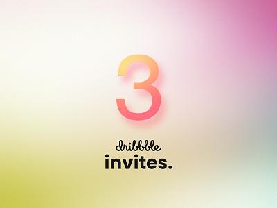 Dribbble Invites dribbbleinvites talent invites giveaway ui minimal