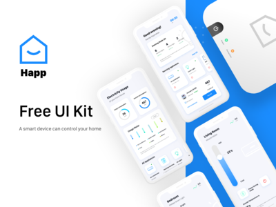 Smart Home App Free UI Kit