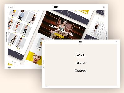 Portfolio 2018 school project clean webdesign designer creative portfolio design ui
