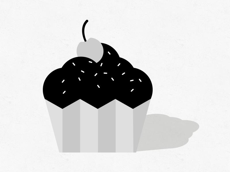 Cupcake shapes logo cute illustration flat pastries cupcake icon