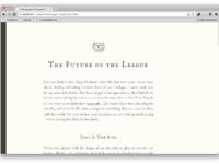 The league typelog