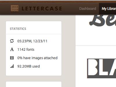 Latest Lettercase lettercase ui interface fonts