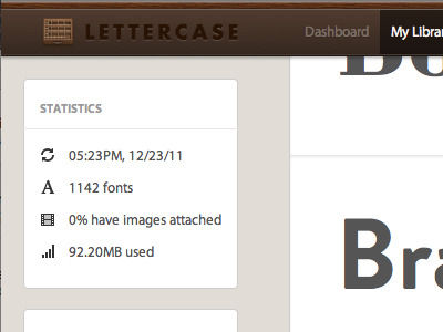 Tiny Fix lettercase fonts ui interface
