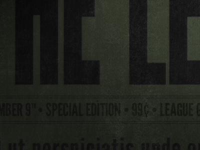 Special Edition font typeface league specimen antique old newspaper