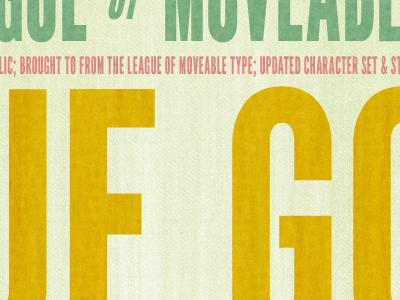 Digital Press print block old antique specimen league typeface font