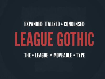 League Gothic league gothic font spec