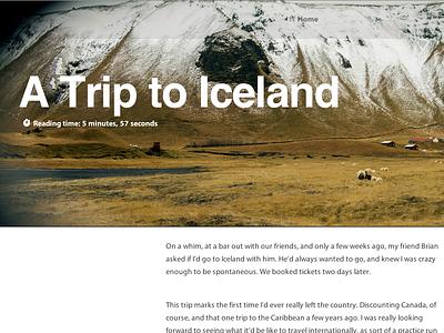 A Trip to Iceland iceland photography photoblog web design