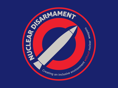 Nuclear Disarmament Secondary Logo (For Sale) bezzina designs adobe illustrator identity graphic design brand identity logo design logo mark logomark nuclear nuclear disarmament toxic social movement