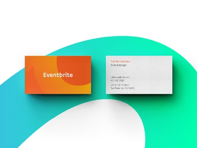 eventbrite new brand touchpoint business cards by david john