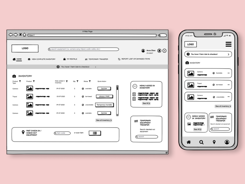 Mid-Fidelity Wireframes - School Project interaction design userinterface wireframe ux ui design ui