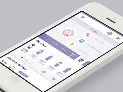 Baby Profil home profil data calendar daily baby purple