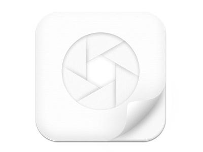 White more light icon icons photo iphone magazine flash white minimalist paper