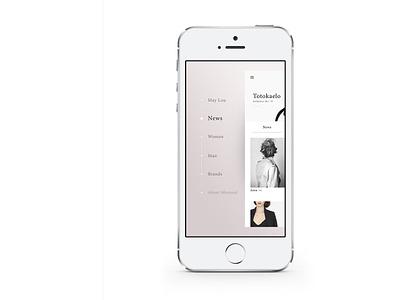 Minimal Application iphone fashion shop minimal