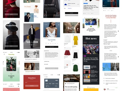 Momo Mockup  fashion luxe magazine brand news article checkout commerce psd mockup mobile