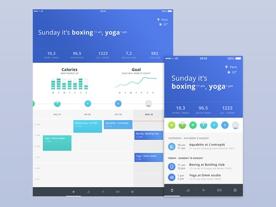 Deeply app - calendar data health sport tracking food calendar