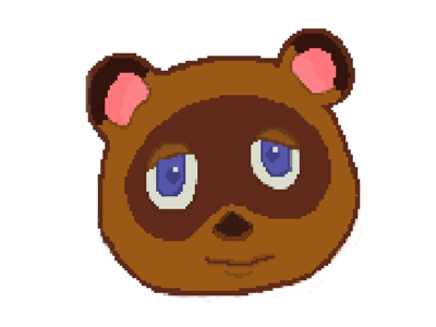 Nookxelized apple pencil ipad pro affinity designer pixel art nintendo animal crossing tom nook