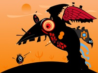 Plague Raven | Adobe Monster Challenge