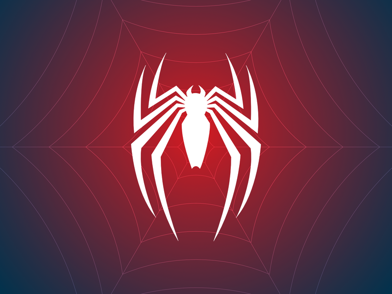 Spiderman Logo White Blue And Red Spidey Vector Spider Web Man Marvel Insomniac Ps4