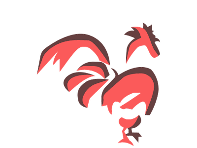 Rooster Talisman adobe illustrator red spirit animal chinese new year chicken bird animal china ancient power flight icon color design vector graphic graphics illustration vector art rooster