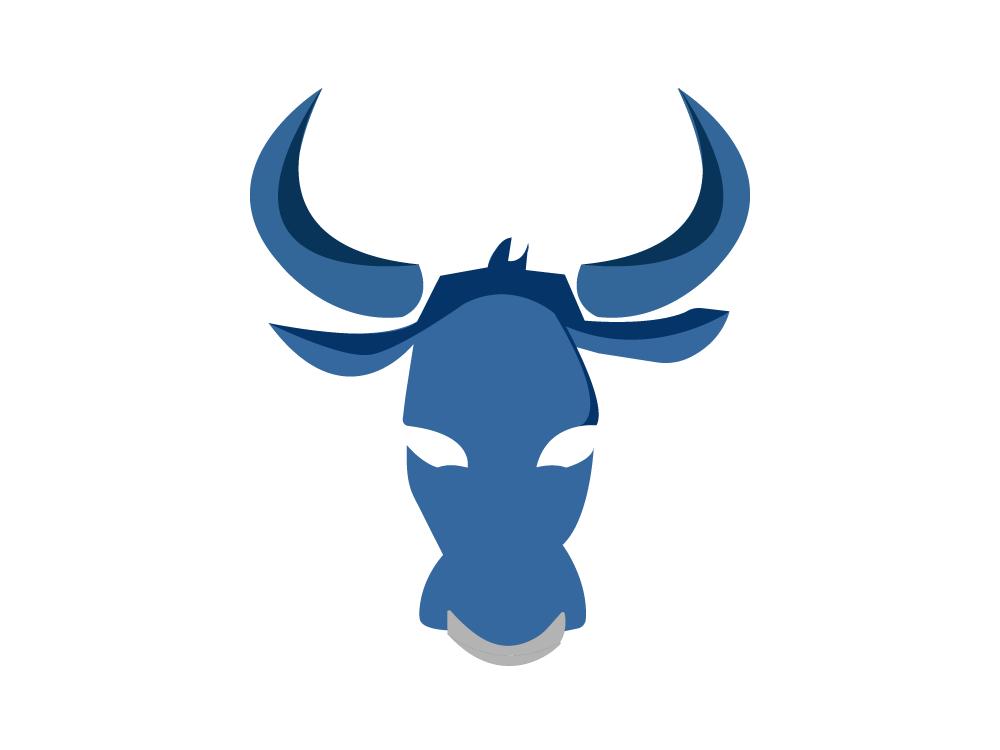Ox adobe illustrator chinese new year zodiac power strength talisman spirit animal animal ox blue illustrator illustration icon adobe digital color logo graphic vector design