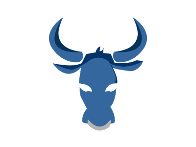 Ox adobe illustrator chinese new year zodiac power strength talisman spirit animal animal ox blue illustrator illustration icon adobe digital color logo graphic vector design