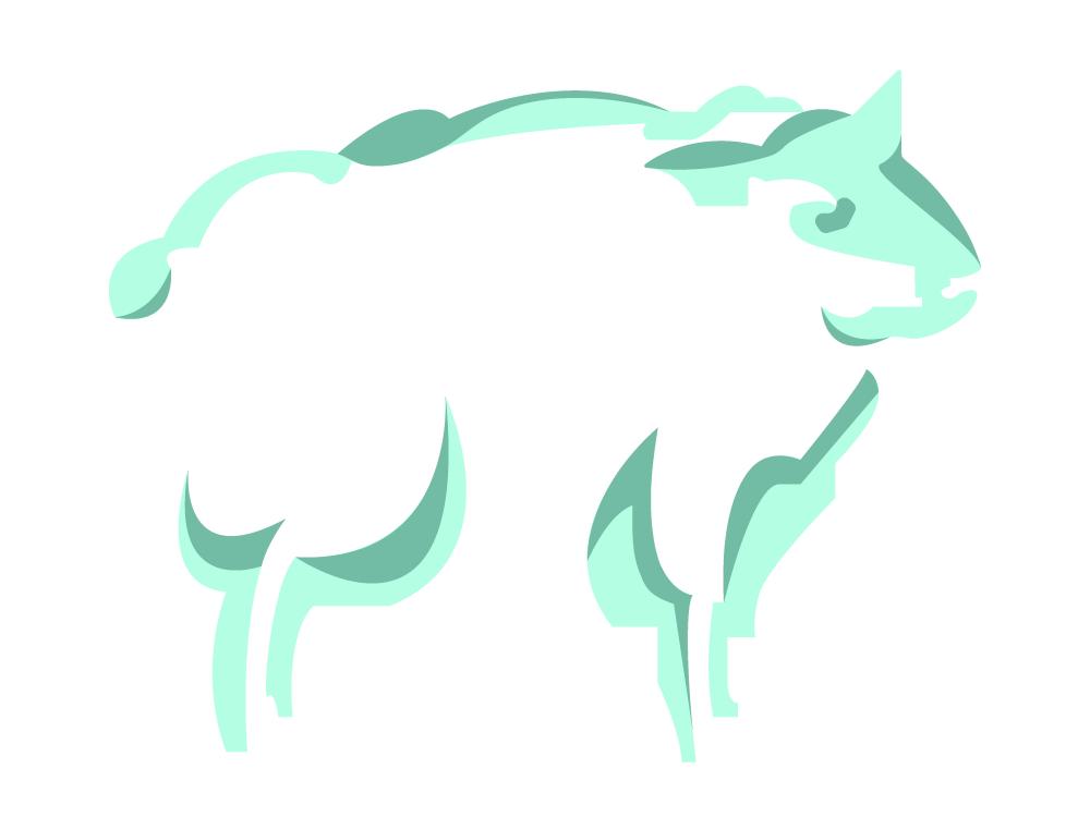 Sheep Talisman minimal art adobe illustrator graphic design zodiac chinese new year chinese culture dream sheep green aqua animal icon background illustrator illustration adobe digital graphic vector design