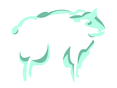 Sheep Talisman minimal art adobe illustrator graphic design zodiac chinese new year chinese culture dream sheep green aqua animal icon background illustrator illustration adobe digital graphic vector design