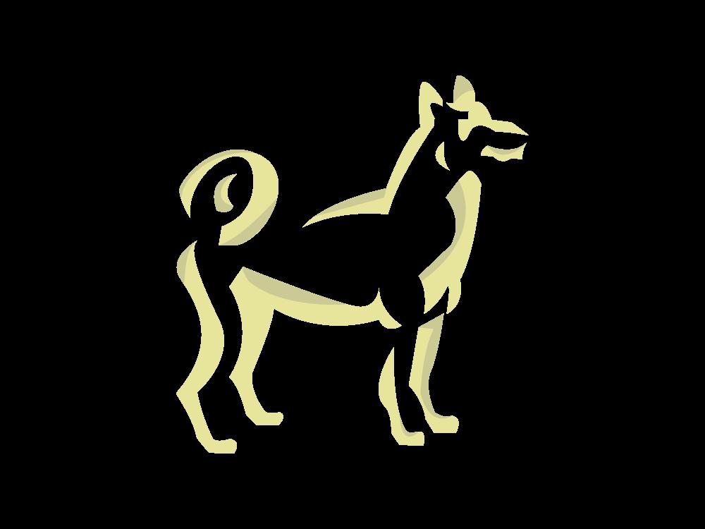 Dog Talisman spirit animal zodiac sign vector art goldenrod icon adobe digital art dog icon dog illustration graphic art friendly immortal best friend 2019 chinesenewyear friend dog