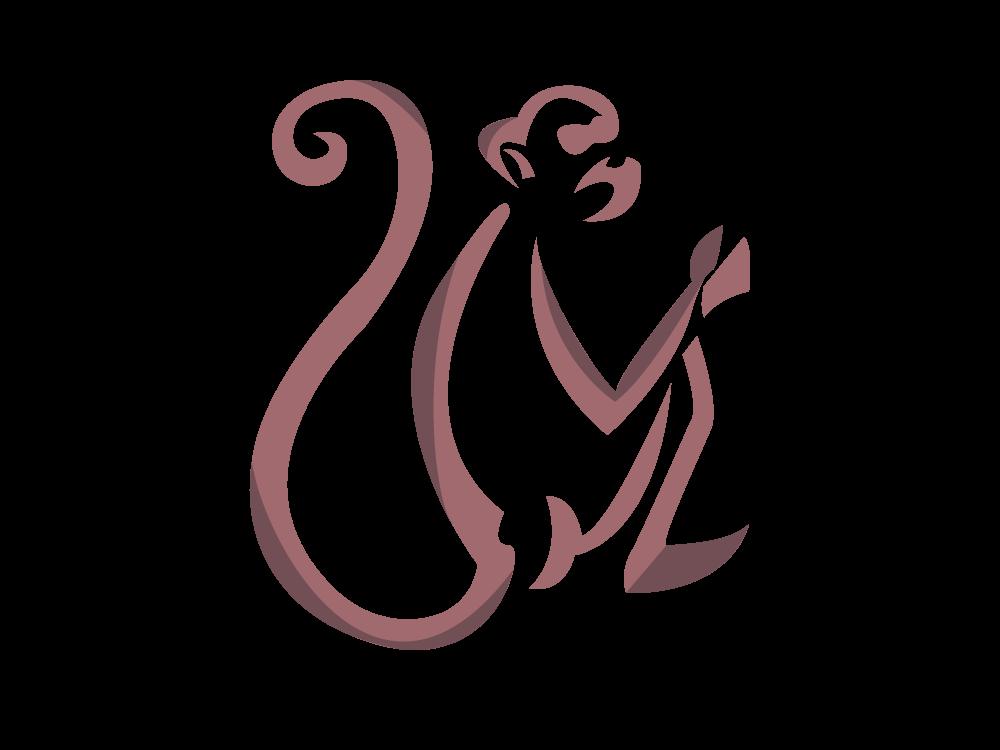 Monkey Talisman shade graphic spirit animal adobe digital illustrator shape brown color monkey chinesenewyear animal branding 2d flat icon vector illustration logo design