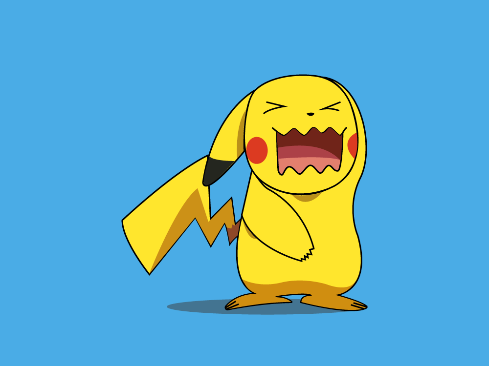Pikachu wobbuffet Impression electric yellow art cute animal illustrator digital illustration vector icon design yellow electric mouse monster nintendo pika graphic pokemon pikachu