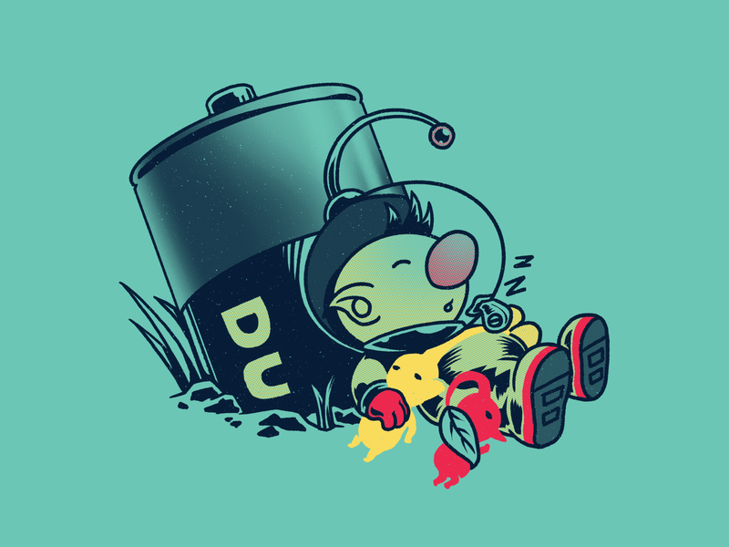 Charging! graphic tee nintendo duracell pikmin video games tshirt illustration