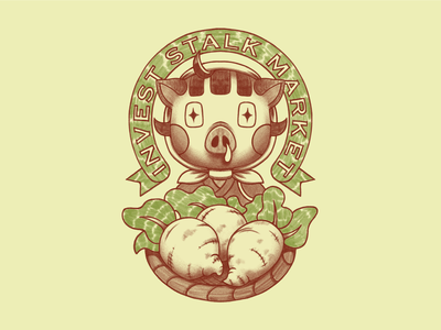 The Pig of Wolfstreet pop culture video games farming boar pig animal crossing graphic tee tshirt illustration