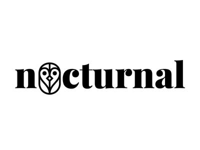 Nocturnal Logo logo design graphic design brand writing journal owl logo