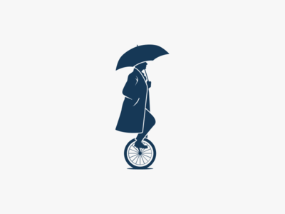 Gentleman Cycling Logo logos unicycle antique mark minimal retro classic logo men gentleman bicycle cycling man
