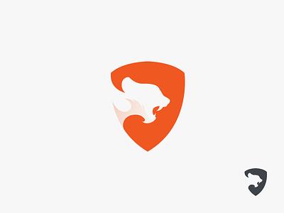 Big Cats Defender animal mark icon logo panther defend shield cheetah jaguar cougar lion tiger leopard cats