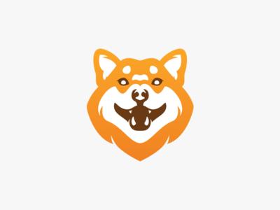 Smiling Shiba Inu logo mark icon symbol animal smiling smile k9 canine dog husky shiba shiba inu mark logos logo