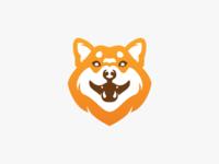 Smiling Shiba Inu logo