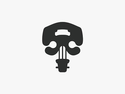 Musical Skull Logo mark logos logo maestro banjo cellos bones violin viola guitar music human skeleton skull