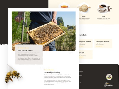 Local beekeeper - buy honey card serif website web clean webshop store business freelance branding bees beekeeping beekeeper bee honey