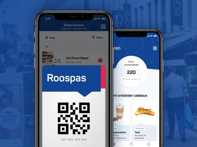 Roospas Loyalty app - Digital Pass deals ios 14 city marketing gifts qr points loyalty program loyalty card loyalty app product card pass scan