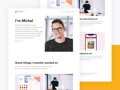 New personal portfolio website on web website product design designer landingpage student ux design design portfolio onepager