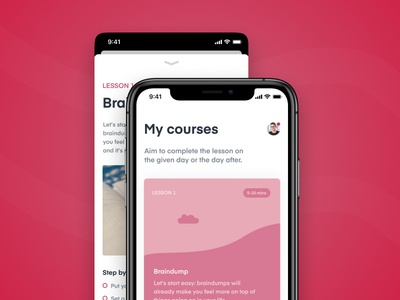 Lift Hill - University project card red university educational education app education ui design app design app ios