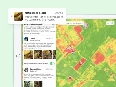 Vegetation Monitor - University project