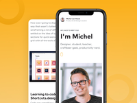 UX Design portfolio - mobile