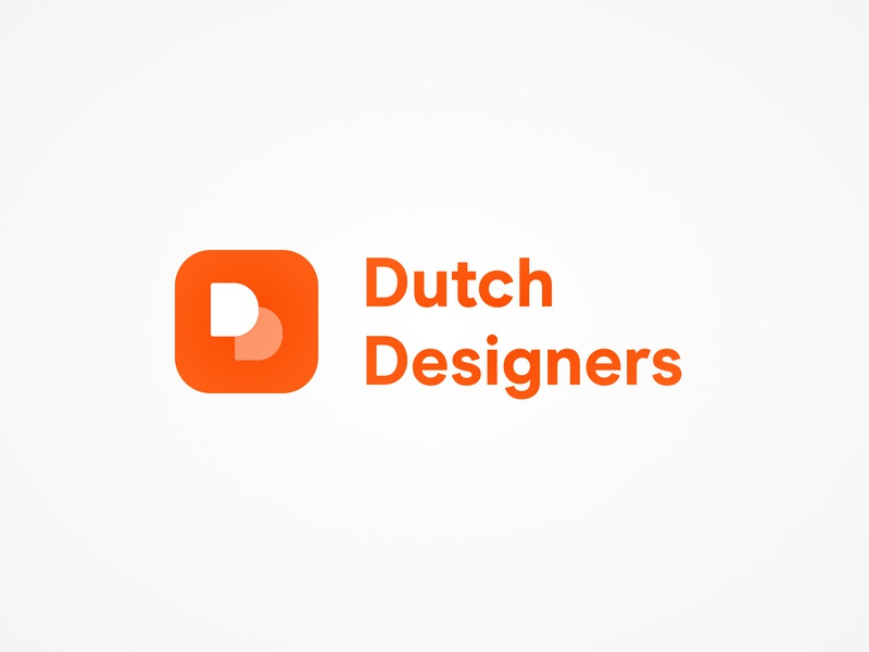 🖌 Dutch Designers Slack community logo and icon brand identity brand freelance students student young designer slack icon slack orange dutch logodesign icon design logo icon community design community