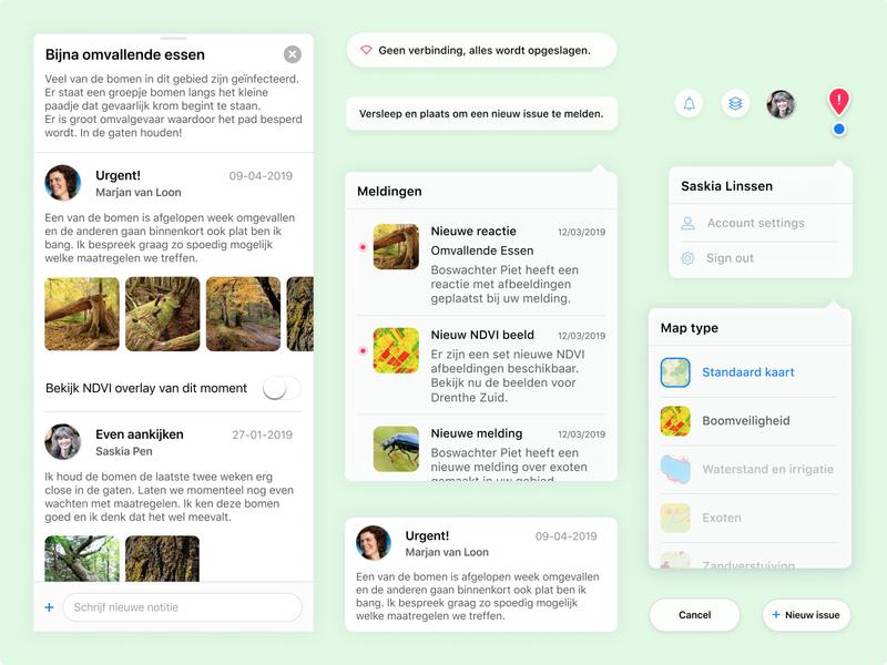 Vegetation Monitor Components design system university project nature ios app ipad app forester ux product design app design component library components component